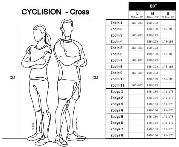 BICYKEL CYCLISION ZODIN 8